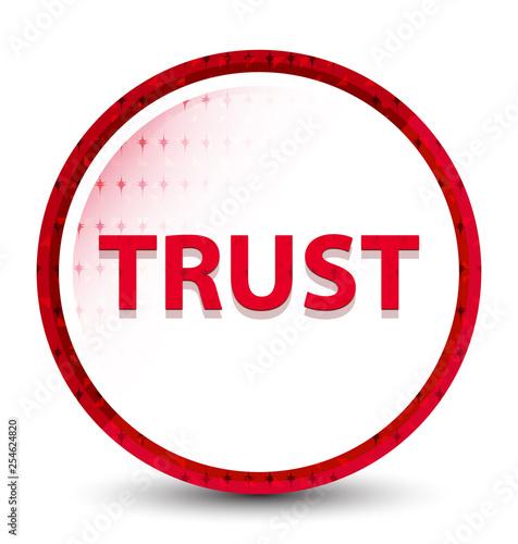 Trust misty frozen red round button