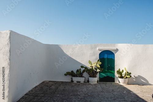 White wall with colored door © Nicola Nessi