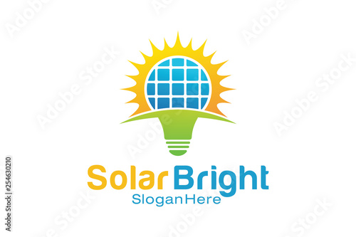 Solar Bright Logo Design Template © adiwi_studio