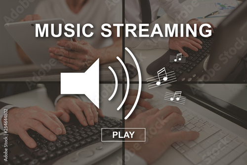 Concept of music streaming - 254644802