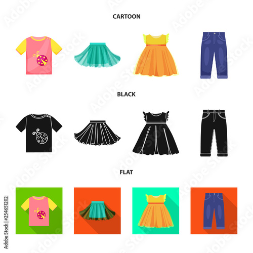 b059c453ec068e Vector illustration of fashion and garment icon. Collection of fashion and  cotton stock vector illustration