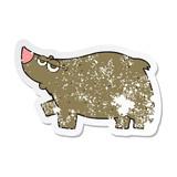 retro distressed sticker of a cartoon bear