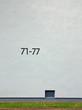 canvas print picture - hausnummern