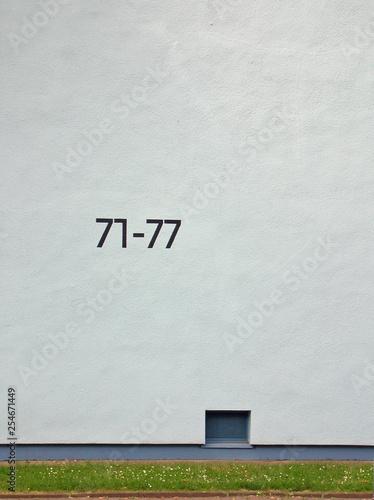 canvas print picture hausnummern