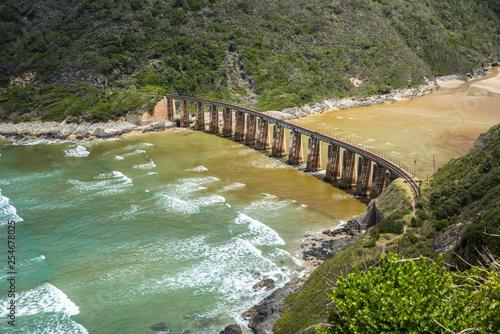 Foto Murales Kaaimans River Railway Bridge, Wilderness, Garden Route, South Africa