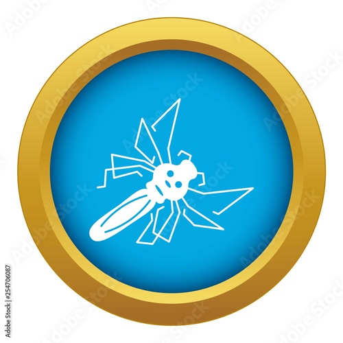 Mosquito icon blue vector isolated on white background for any design - 254706087