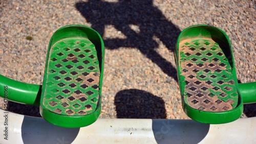 Aparato para pies en un parque