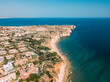 Aerial Drone View Of Lagos Residential Neighborhood And Houses In Portugal