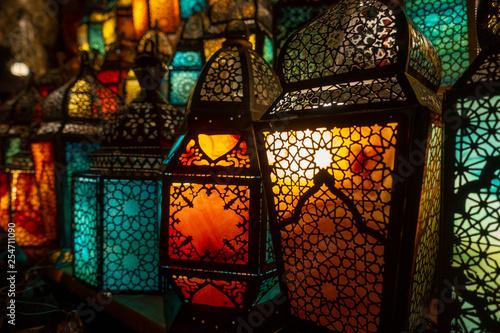 muslim style's lantern shining - 254711090