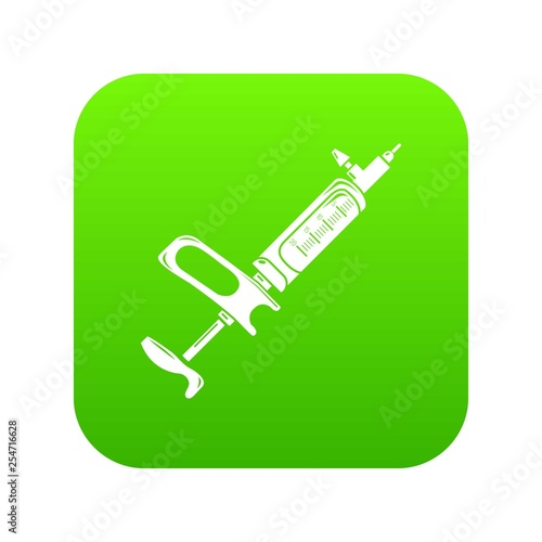 Clinical syringe icon. Simple illustration of clinical syringe vector icon for web