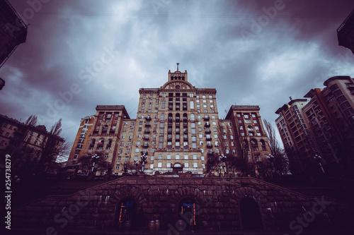 a monumental building