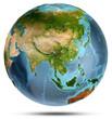 Leinwanddruck Bild - Planet Earth from space. 3d rendering