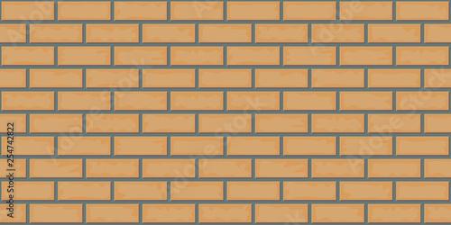 Brick texture. Laying of stone blocks. Seamless pattern. Vector illustration. - 254742822