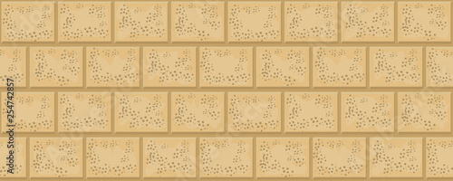 Brick texture. Laying of stone blocks. Seamless pattern.  illustration. - 254742857