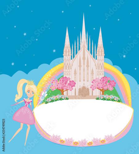Beautiful fairytale castle frame - 254749823