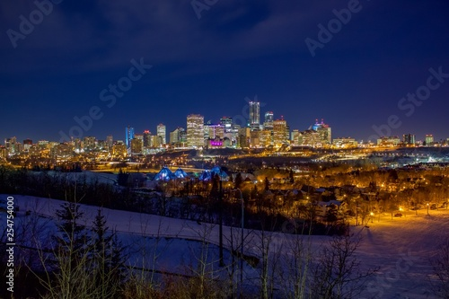 Night Time Edmonton City