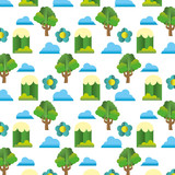 tree with mountains and bushes plants background