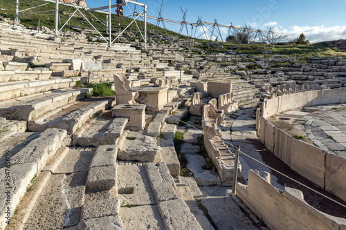 Panorama of Ruins of  theatre of Dionysus in Acropolis of Athens, Attica, Greece - 254765606