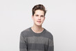 Leinwanddruck Bild - Attractive teenage boy posing in studio