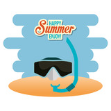summer enjoy with snorkel
