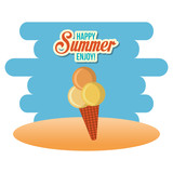summer enjoy with ice cream