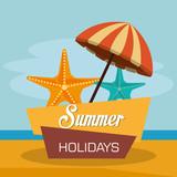 summer enjoy with umbrella beach