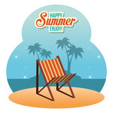 summer enjoy with beach chair