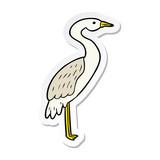 sticker of a cartoon stork