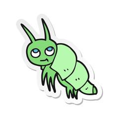 sticker of a cartoon little bug
