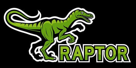 velociraptor dinosaur logo, vector graphic to design