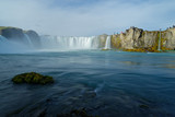Touristen am Godafoss, Island