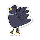 sticker of a cartoon bird