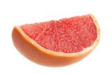 Grapefruit closeup on white