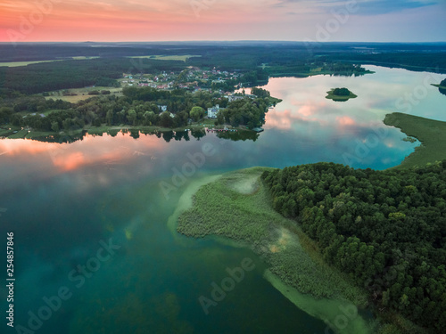 Niesłysz lake aerial view