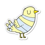 distressed sticker of a cartoon bird