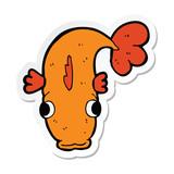 sticker of a cartoon fish