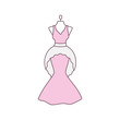 Wedding dress color icon