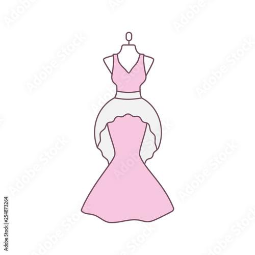 Wedding dress color icon
