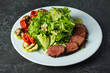grilled steak with vegetables and sauce - 254874880