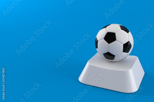 Soccer ball on computer key