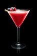 Cosmopolitan cocktail on a black background