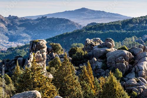 Cerro de San Pedro desde la Pedriza. Madrid. España. Europa.
