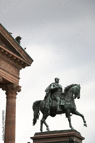 Equestrian sculpture in front of the Kunstmuseum of Berlin