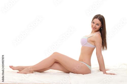 girl with sexy body in underwear - 254927874