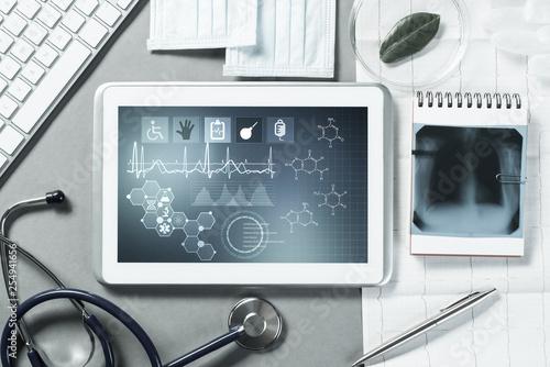 Leinwanddruck Bild Digital technologies in medicine