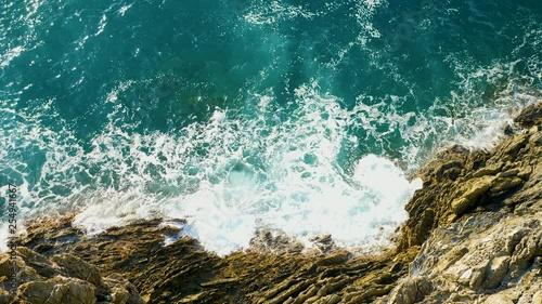 mer et côte, vue du ciel