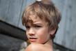 Portrait of pensive, serious boy