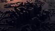 3d render. Low Poly city. - 254964089