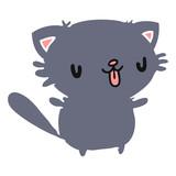 cartoon of cute kawaii cat