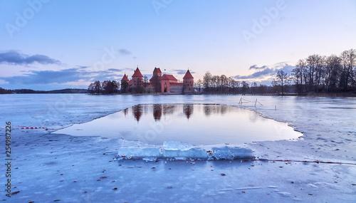 Trakai Castle, morning.